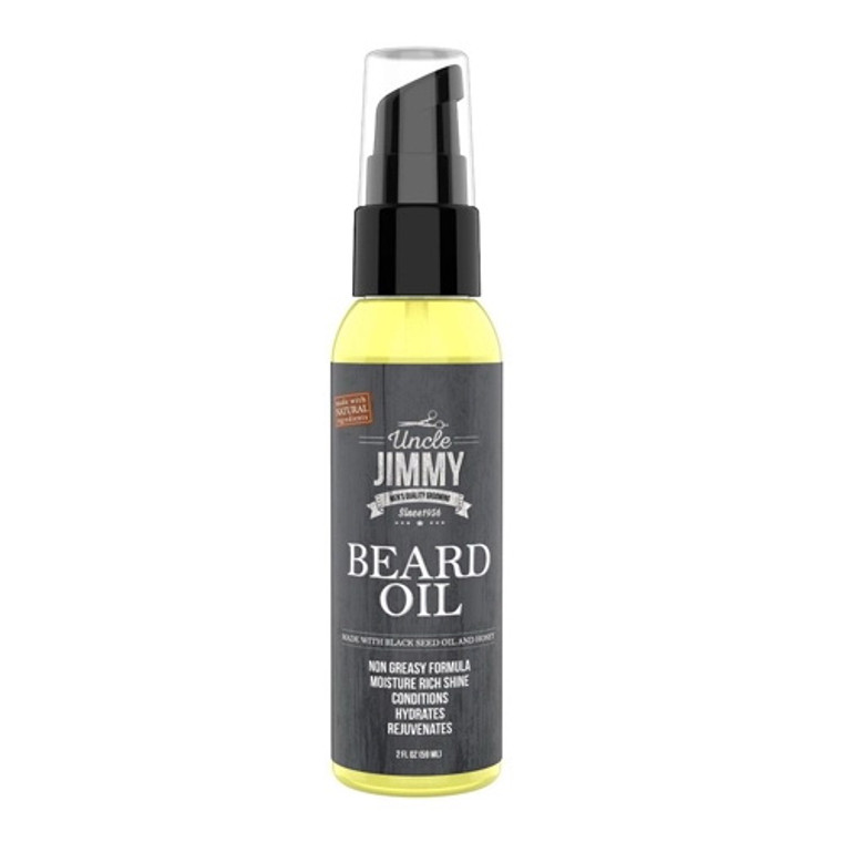 Uncle Jimmy Beard Oil for Mens, Black Seed Oil and Honey Spray, 2 Oz