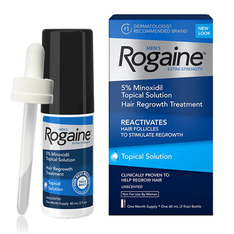 Mens Rogaine Extra Strength Hair Regrowth Treatment - 2 Oz Ea, 3 Pack