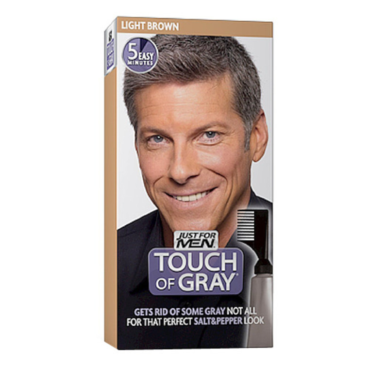 Just For Men Touch Of Gray Hair Color Light Brown Gray T 25, 1 Ea