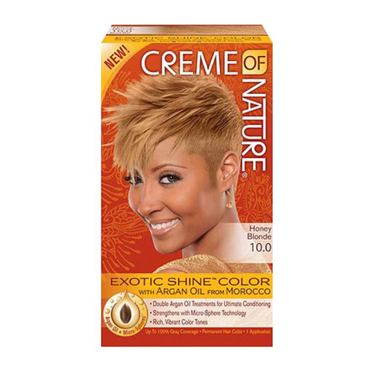 Creme Of Nature Argan Oil Exotic Shine Permanent Hair Color, Honey Blonde, 0.41 Oz