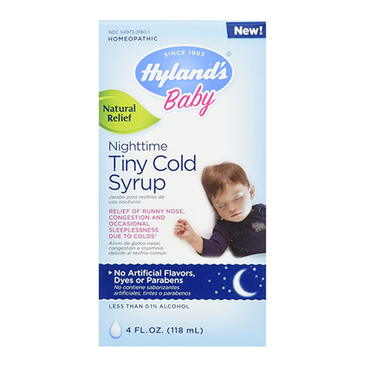 Hylands Baby Nighttime Tiny Cold Syrup, Natural Relief - 4 Oz