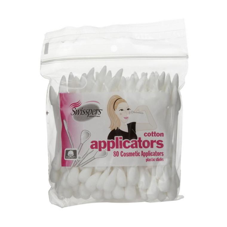 Swisspers Dual Tipped Cotton Applicators, 80 Ea
