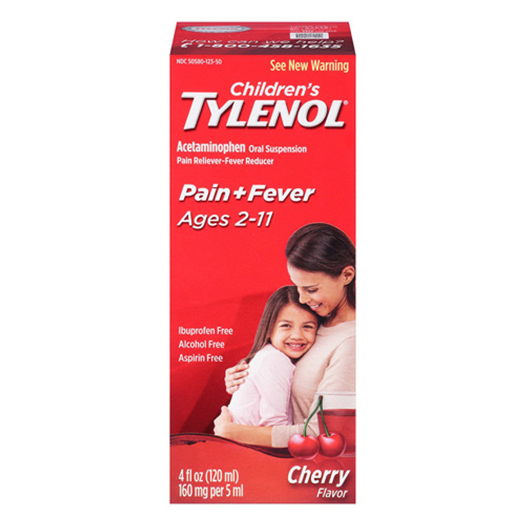 Tylenol Childrens Pain Reliever And Fever Reducer, Cherry Blast Flavor - 4 Oz