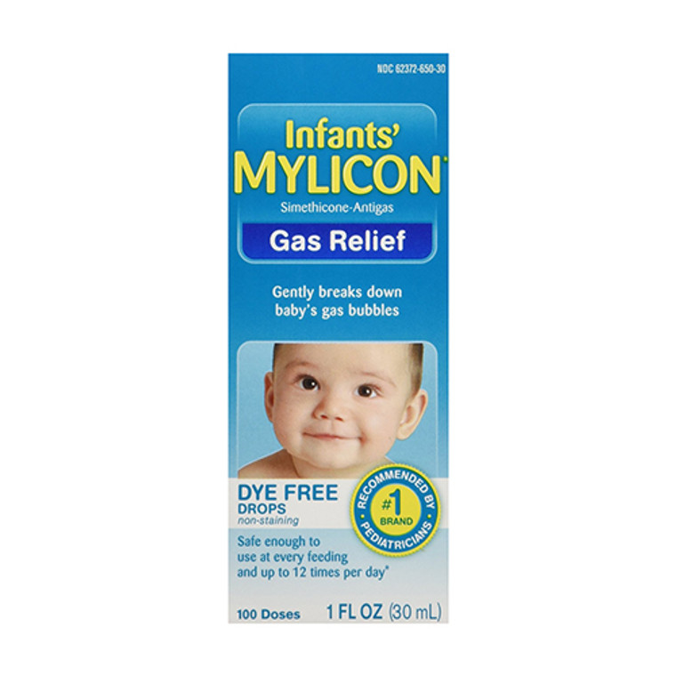 Mylicon Infants Drops Anti Gas Relief Dye Free Formula For Babys, 1 Oz