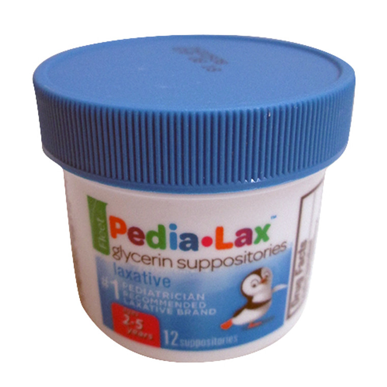 Fleet Pedia Lax Glycerin Suppositories For Ages 2-5 Years Children - 12 Ea