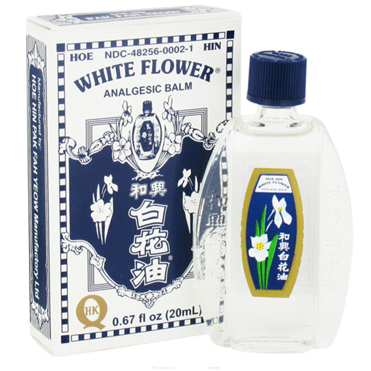 Superior Trading White Flower Analgesic Balm Oil - 0.67 Oz