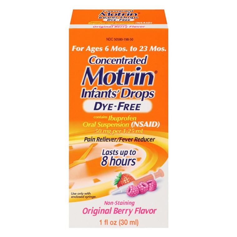 Motrin Infants Oral Suspension Berry Drops, Dye-Free - 1 Oz