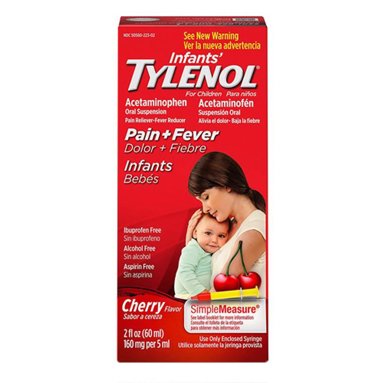 Tylenol Acetaminophen Oral Suspension For Infants, Cherry - 2 Oz