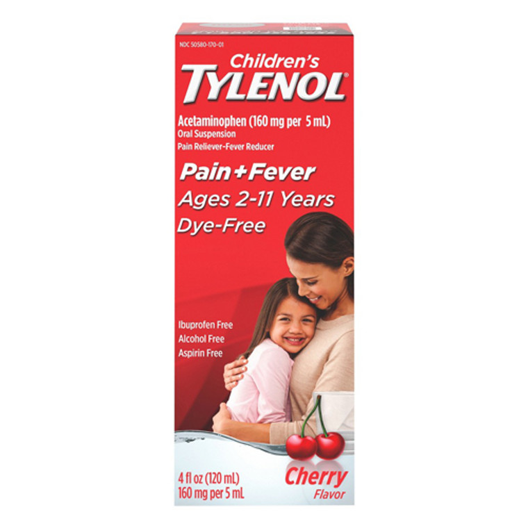 Tylenol Childrens Pain and Fever Reliever Dye-Free Liquid, Cherry Flavor, 4 oz