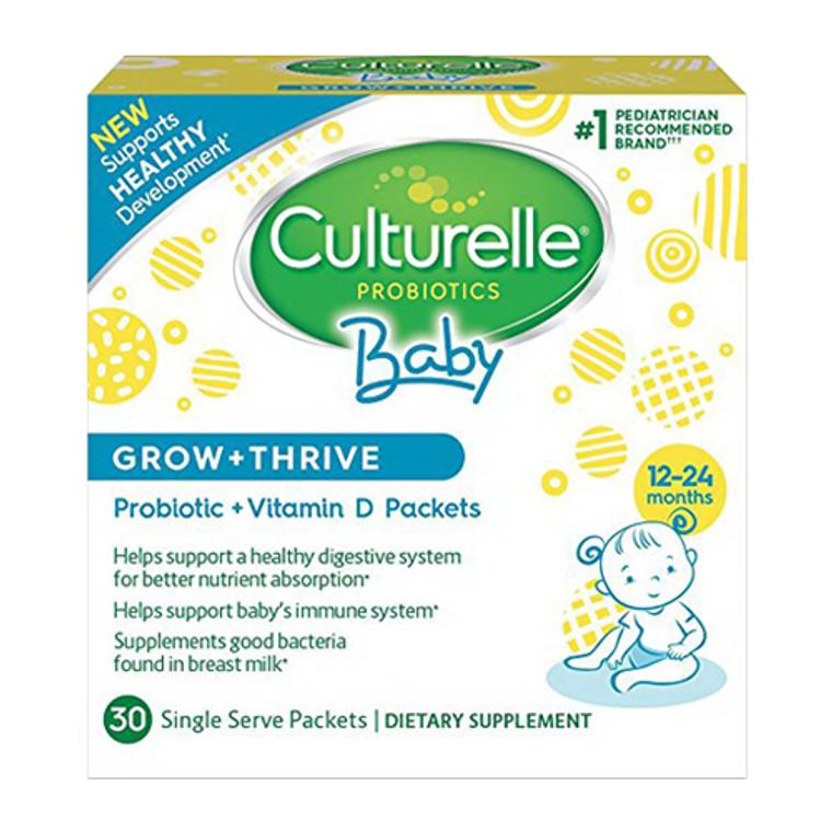 Culturelle Baby Grow Plus Thrive, Probiotic Plus Vitamin D Single Serve Packets Supports Healthy Development, 30 Ea