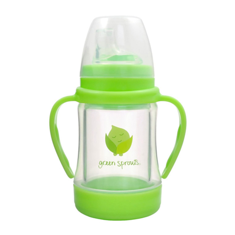 Green Sprouts Glass Sip N Straw Cup, Lime,  1 Ea