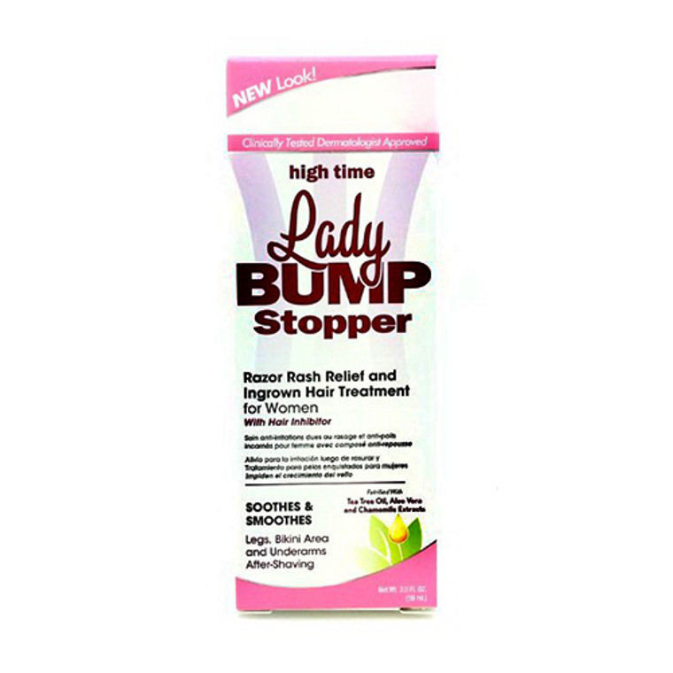 High Time Lady Bump Stopper Razor Rash Relief and Ingrown Hair Treatment, For Women, 2 oz
