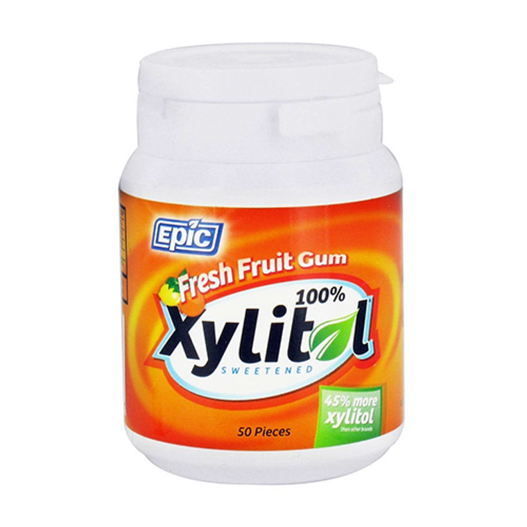 Epic Xylitol Sweetened Fresh Fruit Chewing Gum, 50 Ea