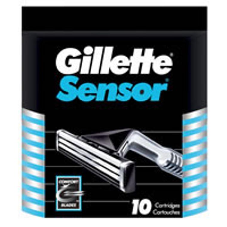 Gillette Sensor Blades For Men - 10 Refils