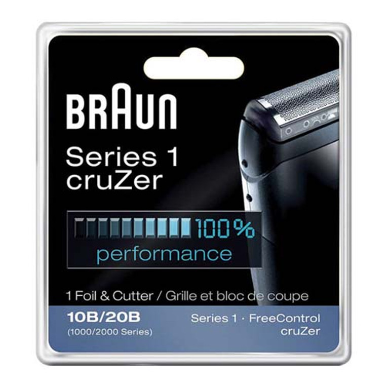 Braun Series 1 Foil And Cutter 10B Replacement Head For Free Control And Cruzer Shaver Trimmer, 1 Ea