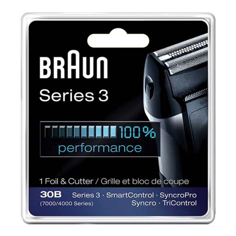 Braun Series 3 Foil And Cutter 30B Replacement Shaver Head For Mens, 1 Ea