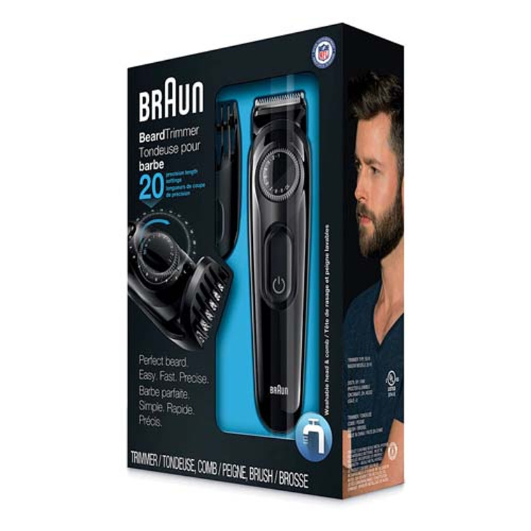 Braun BT3020 Beard Hair Trimmer For Men, Perfect Tool For Precise Facial Styling, 1 Ea