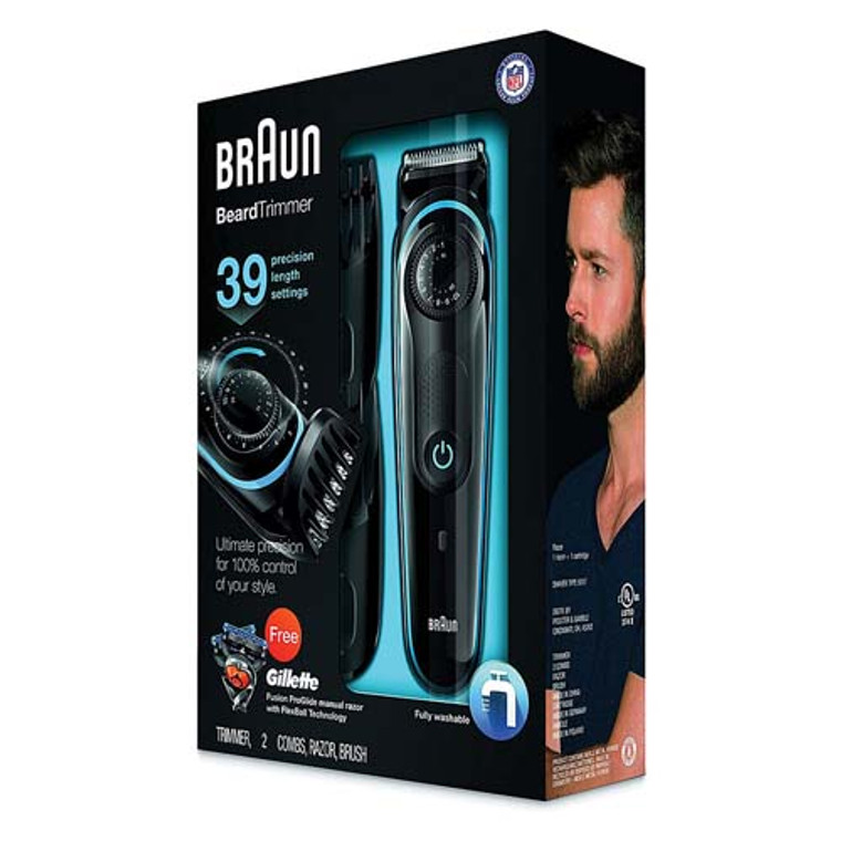Braun BT3040 Beard/Hair Trimmer For Men, Perfect Tool For Precise Facial Styling, 1 Ea
