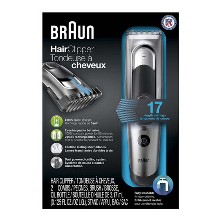 Braun HC5090 Cordless And Rechargeable Electric Cutting Hair Clipper And Trimmer For Men, 1 Ea