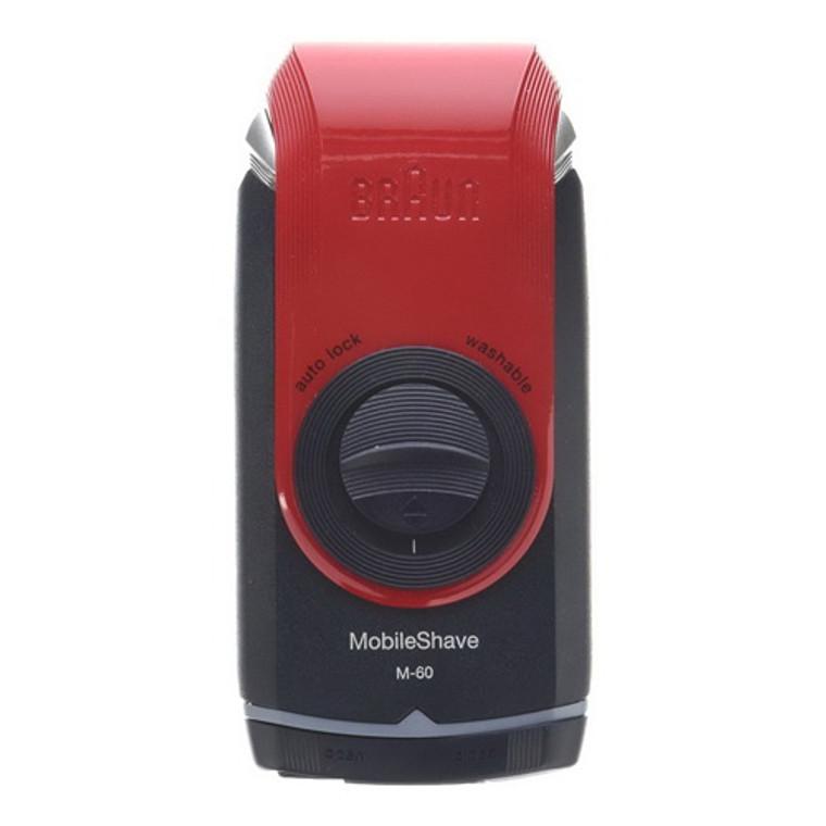 Braun Mobile Pocket Shaver M60 Red, 3.2 Oz