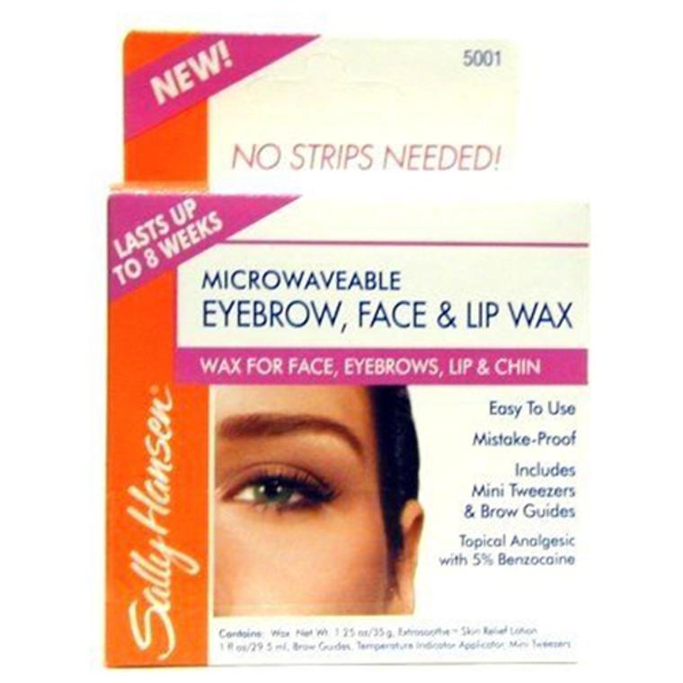 Sally Hansen Microwaveable Eyebrow, Face And Lip Wax, 4 Ea