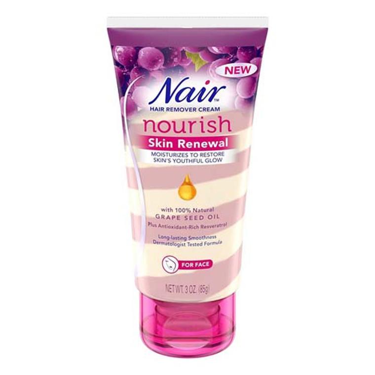 Nair Hair Remover Cream Nourish Skin Renewal For Face  3 Oz