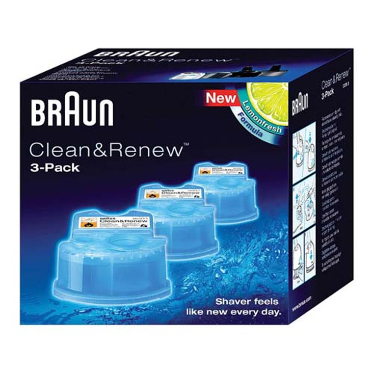 Braun Syncro Shaver System Clean And Renew Refill Cartridges, CCR3, 3 Ea/Pack