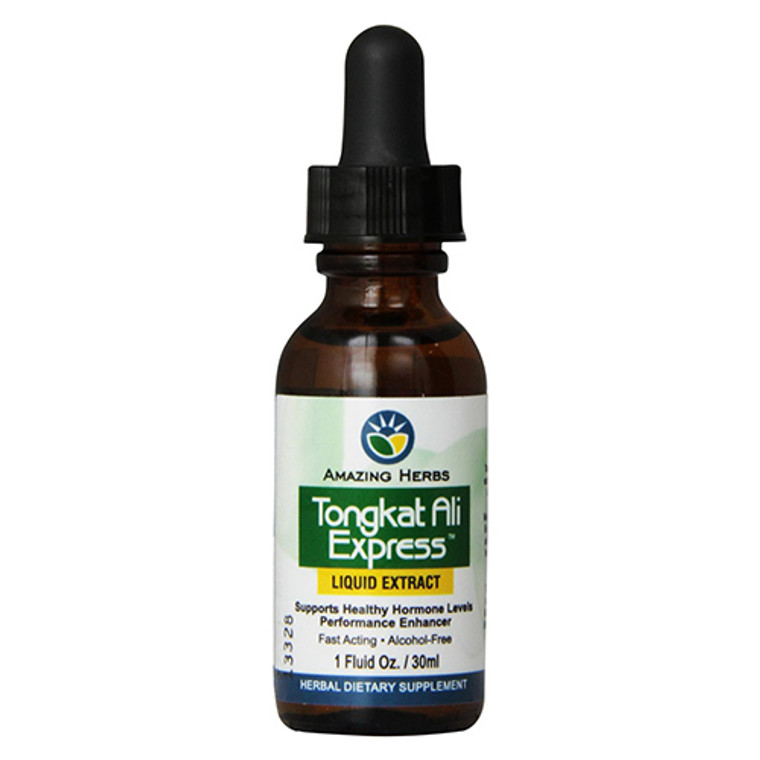 Amazing Herbs Tongkat Ali Express Liquid Extract, Healthy Hormone Support, 1 oz