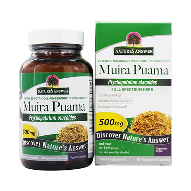 Natures Answer Muira Puama Bark Vegetarian Capsules, 90 Ea
