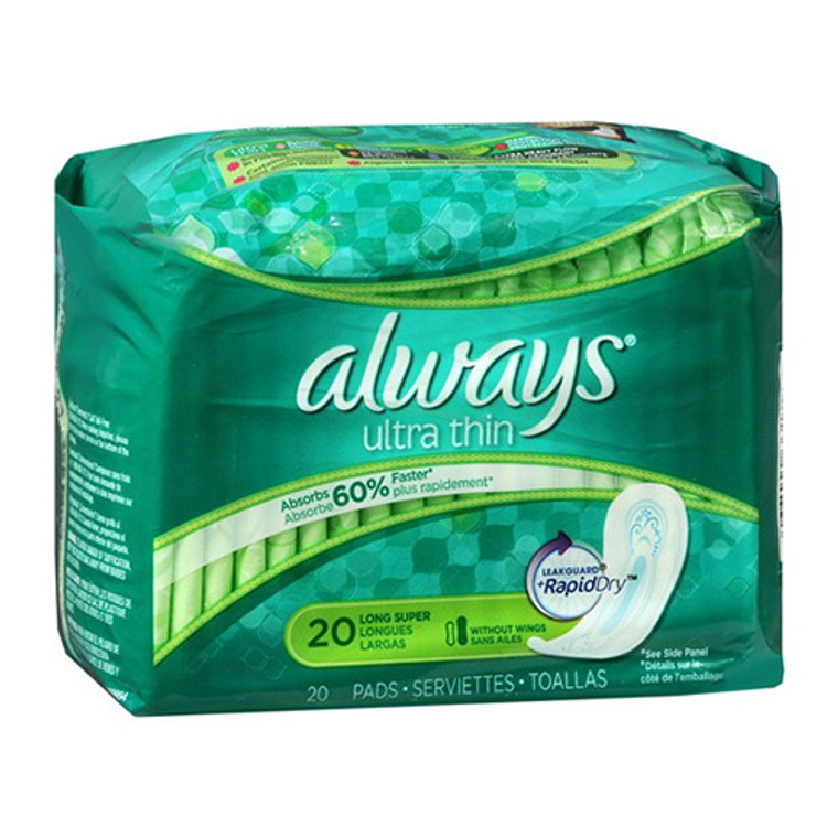 Always Ultra Thin Long Super Pads(33159) - 20 Pads