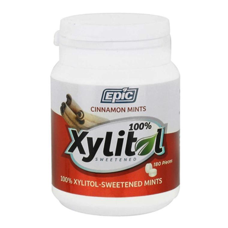 Epic Dental Xylitol Sweetened Mints, Cinnamon, 180 Ea