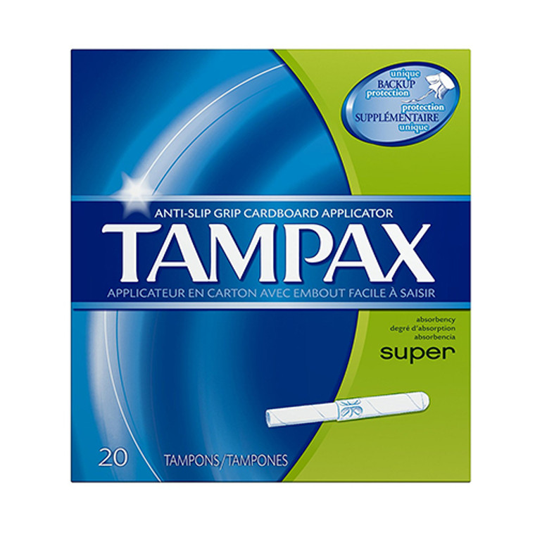 Tampax Tampons With Flushable Applicator, Super Absorbency - 20 Each