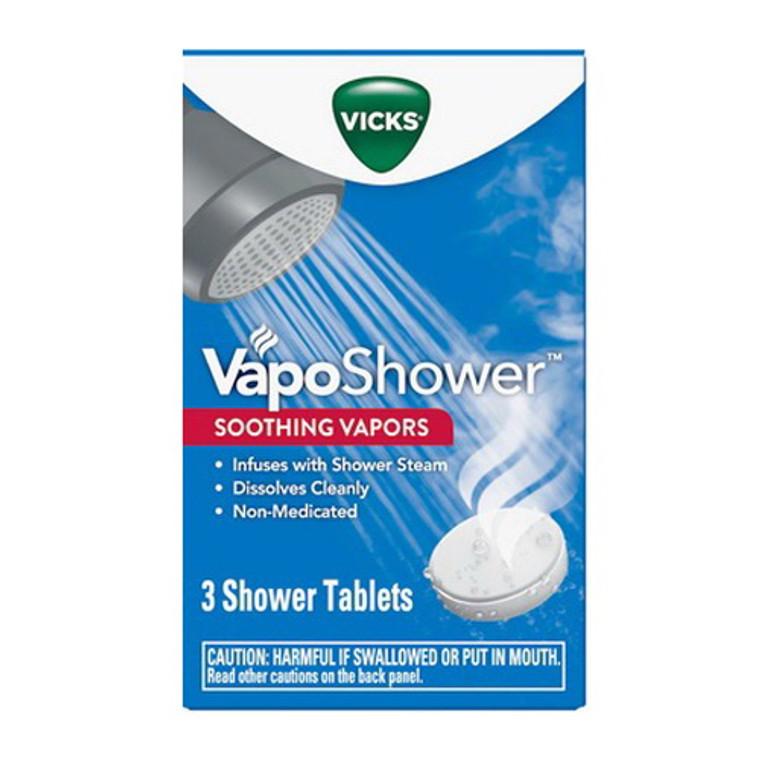 Vicks Vaposhower Soothing Vapors, Shower Tablets, 3 Ea