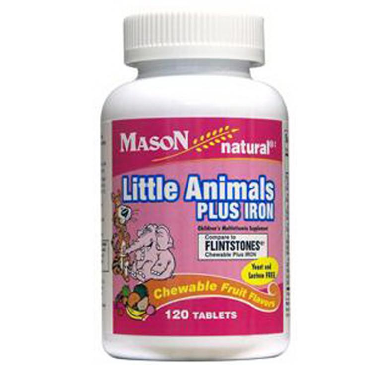 Mason Natural Little Animals Plus Iron Compare To Flintstones Chewable Plus Iron Tablets - 120 Ea