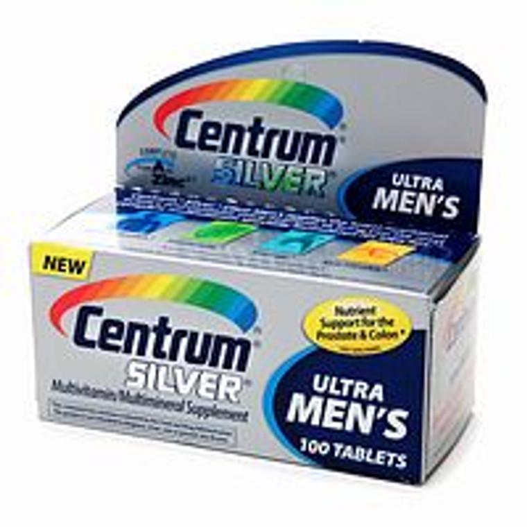 Centrum Silver Ultra Mens Multivitamin/Multimineral Supplement Tablets - 100 Ea