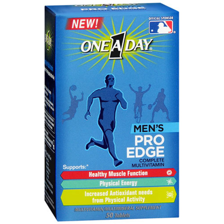 One A Day Pro Edge Complete Multivitamin Tablets For Men, 50 Ea