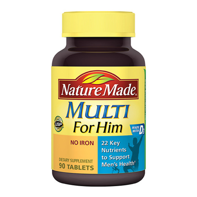 Nature Made Multi For Him Multivitamin And Multimineral Tablets - 90 Ea