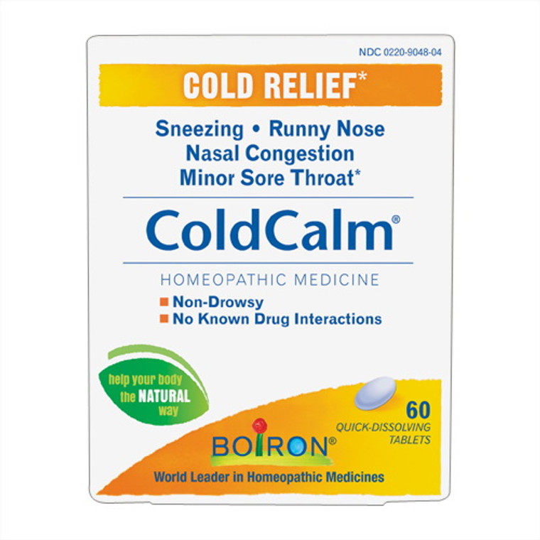 Boiron Coldcalm Cold Relief Homeopathic Tablets, 60 Ea