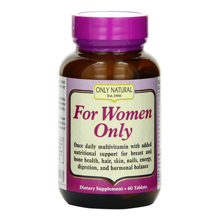 Only Natural For Women Only Tablets, Dietary Supplement, 60 Ea