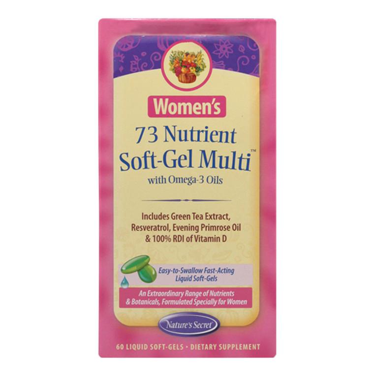 Natures Secret Womens 73 Nutrient Multi Vitamins Softgels, 60 Ea