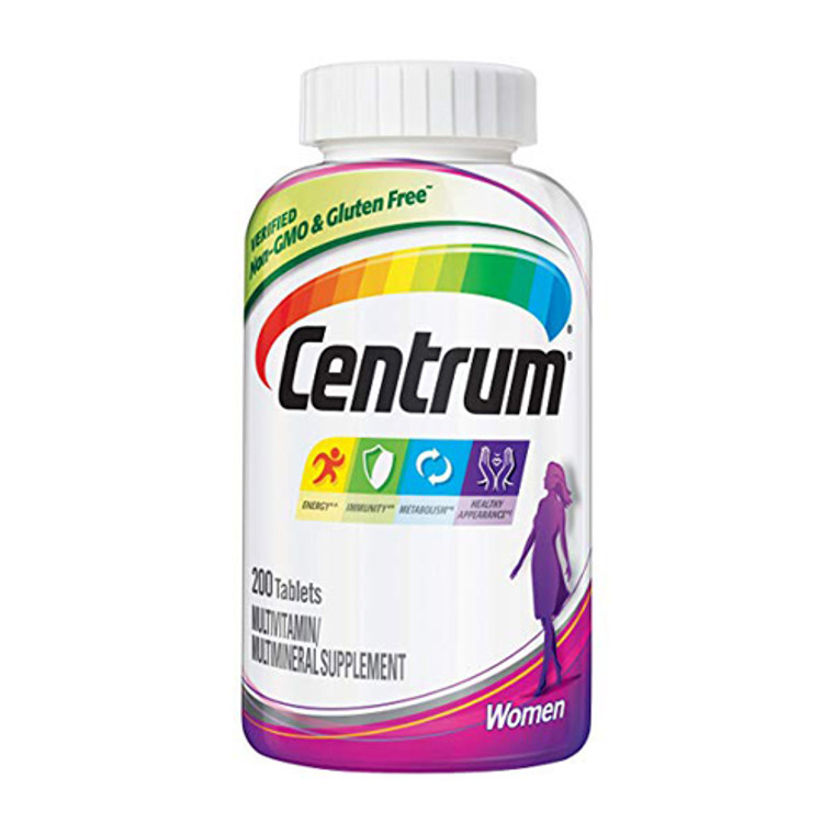 Centrum Womens Multivitamin and Multimineral Supplement Tablets, 200 Ea