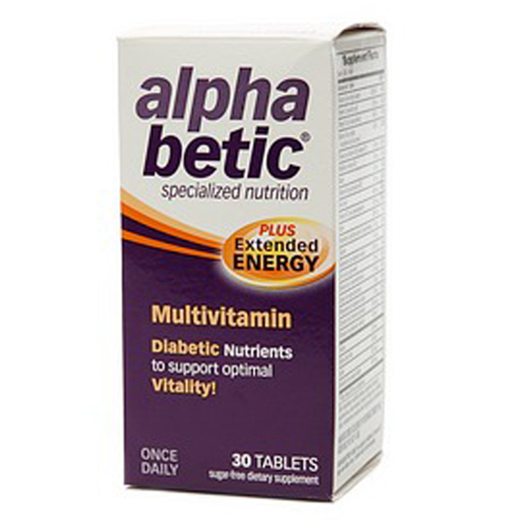 Alpha Betic Plus Extended Energy Multivitamin Tablets - 30 Ea