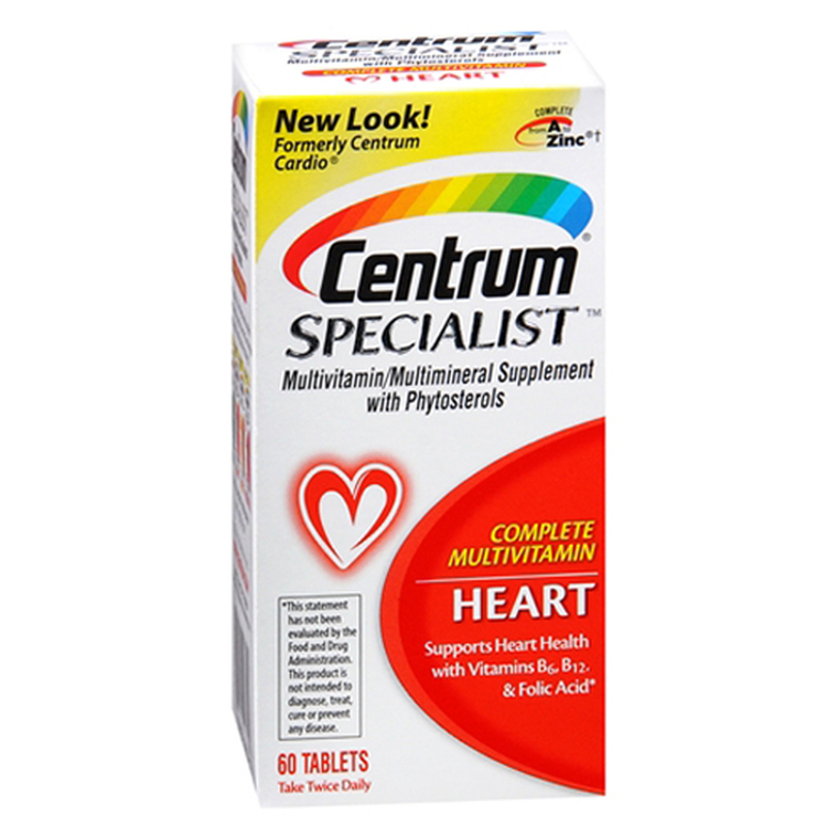 Centrum Specialist Multivitamin/Multivitamin Tablets For Heart - 60 Ea