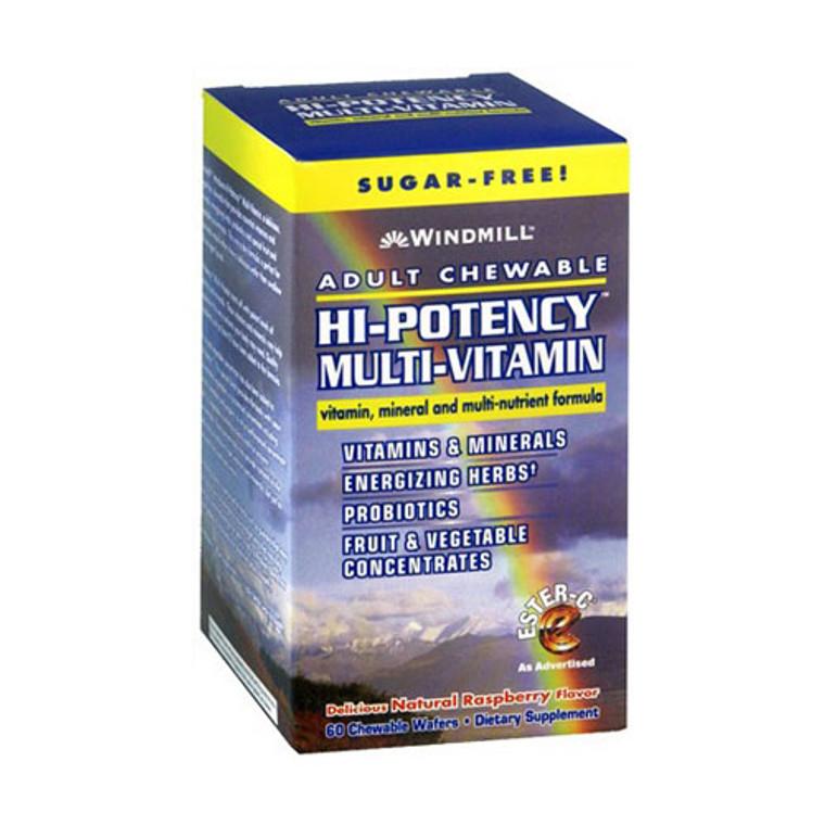 Windmill Adult Chewable Hi-Potency Multi Vitamin Wafers - 60 Ea
