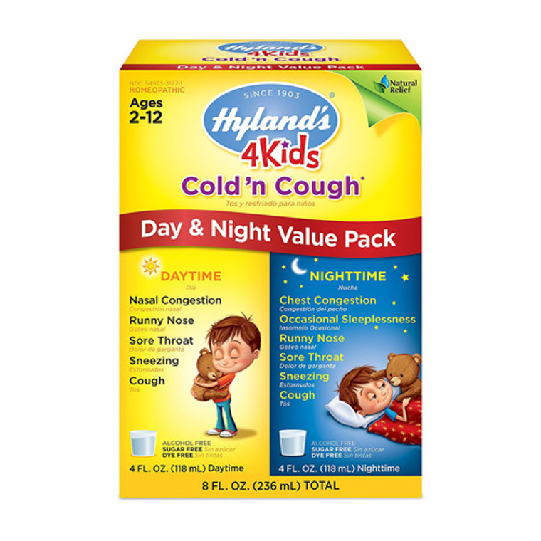 Hylands 4 Kids Cold and Cough Day and Night Value Pack, 8 Oz