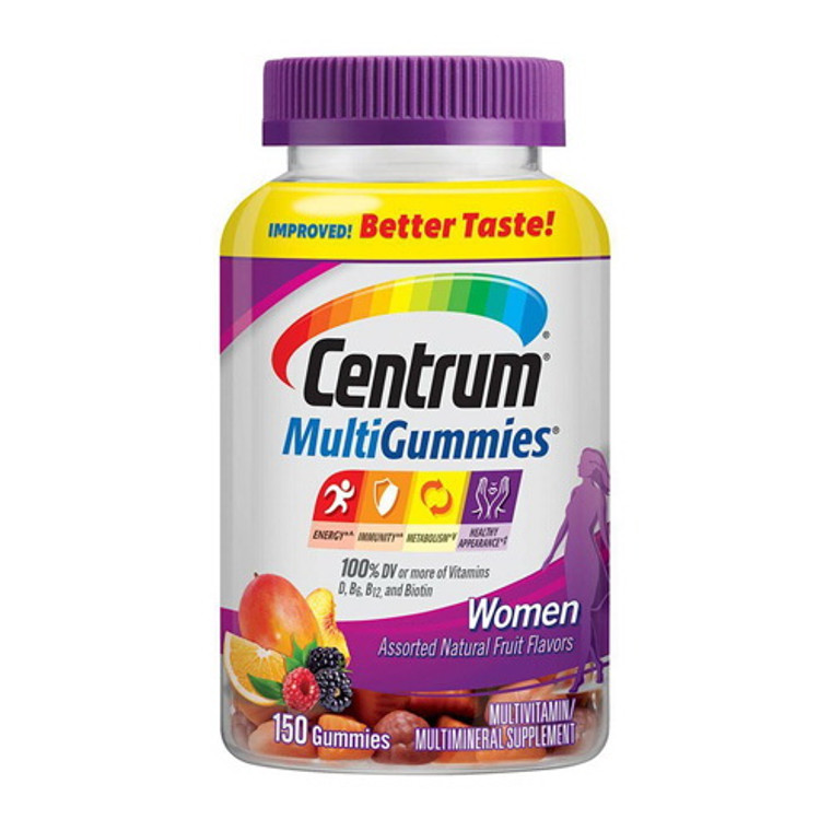 Centrum Multi Gummies Women Multivitamin and Multimineral Supplement, 150 Ea