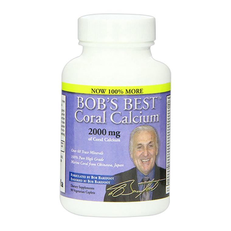 Bobs Best Coral Calcium 2000Mg Caplets - 90 Ea