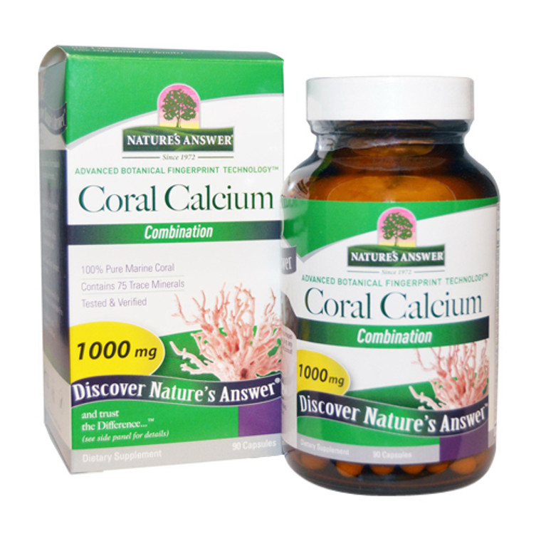 Natures Answer Coral Calcium Combination Capsules, 90 Ea