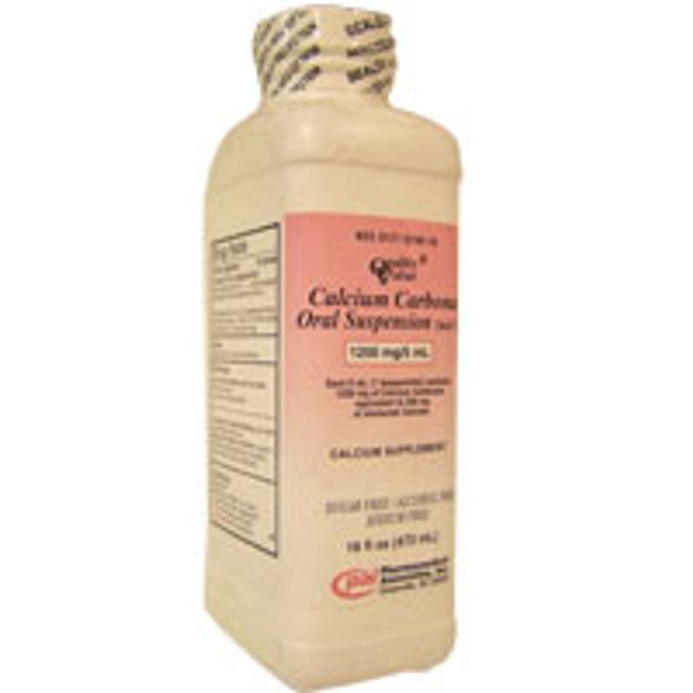 Calcium carbonate oral suspension 1250mg/5 ml - 16 oz