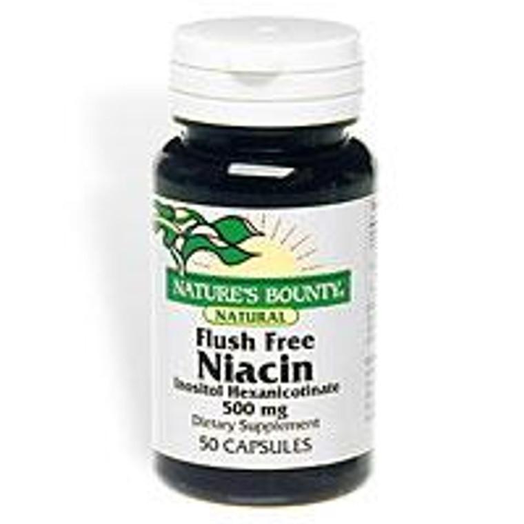 Natural Flush Free Niacin Inositol Hexanicotinate 500 Mg Capsules - 50 Capsules